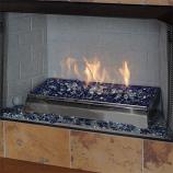 24 Inch Rio Lights Glass Fire Burner LP Millivolt Control - Remote