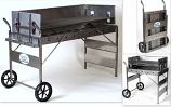 Bear Tooth Charcoal Grill Cart by Rocky Mountain Cookware