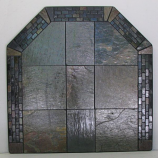 "NY Hearth 40"" x 40"" Brick Multi Slate Hearth Pad"