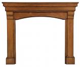 "The Blue Ridge 56"" Fireplace Mantel in Distressed Medium Oak Finish"