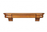 "The Abingdon 48"" Shelf or Mantel Shelf in Distressed Medium Rustic"