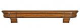 "The Abingdon 60"" Shelf or Mantel Shelf in Distressed Medium Rustic"