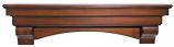 "The Auburn 48"" Shelf or Mantel Shelf in Distressed Cherry Finish"