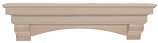 "The Auburn 60"" Shelf or Mantel Shelf - Unfinished"