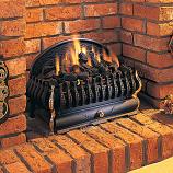 "21"" Seville English Coal Basket - Manual Control Burner, NG"
