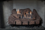 30 Inch Palmetto Oak 7-Piece Log Set & LP Millivolt Control Burner
