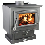 EPA Certified Medium Wood Pedestal Stove with Blower