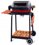 Deluxe Electric Grill Cart with Wheels and Side Shelf