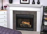 "Deluxe Direct Ignition 34"" Flush Face B-Vent Fireplace-Natural Gas"