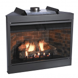"Deluxe MV 36"" Flush Face B-Vent Fireplace - Natural Gas"