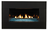 Decorative Black Front for use with Medium Fireplace - Metal Frame