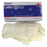 Disposable Powder-free Latex Gloves - 100/bx