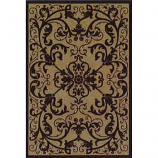 Orian Texture Weave Rugs, Flame Resistant, Scroll Mink