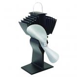 EcoFan For Wood Stoves Black Body Nickel Blades 150 CFM