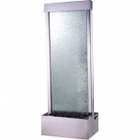 4' Gardenfall Clear Tempered Glass with Brushed Stainless Steel Frame