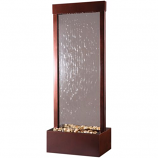 4' Gardenfall Clear Tempered Glass with Dark Copper Colored Frame