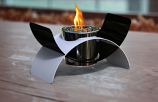 Decorpro D10202 Black/White Harmony Tabletop Fireburner