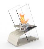 Decorpro D10205 White Kaskade Tabletop Fireburner