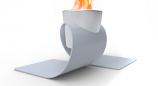 Decorpro D10201 White Omega (Chrome Cup) Tabletop Fireburner