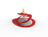 Decorpro D10114 Red Ovia Tabletop Fireburner