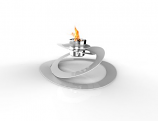 Decorpro D10214 White Ovia Tabletop Fireburner