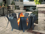 Decorpro D10303 Gunmetal Grey Folia Fire Pit