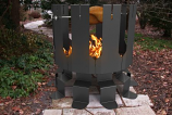 Decorpro D10300 Gunmetal Grey Ion Fire Pit