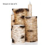 Birch Bark Straight Unscented Remote Ready Candle - 3 x 4 inch