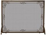 Bronze Finish Decorative Scroll Screen