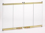 "36"" See Thru Glass Door - Brushed Brass"