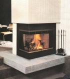 "36"" Glass Corner Fireplace Door and End Panel Set"