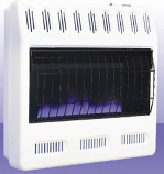 Natural Gas Thermostat 30K Large Blue Flame Heater