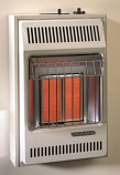 Propane Gas Thermostatic 10K Infrared Two Plaque Heater
