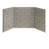 """Refractory Brick Liner Kit for Direct Vent Gas Fireplace - 42"""""""