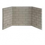 """Refractory Brick Liner Kit for Fireplace and Firebox - 42"""""""