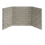 """Refractory Brick Liner Kit for B-Vent Fireplace - 42"""""""