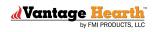 Large Indoor Vent Free Propane Gas Variable Remote Magniflame Burner- BURNER ONLY