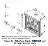 "Ledgestone Tan Perimeter Brick for Luxury Direct Vent - 36"""
