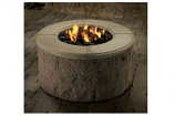 Stainless Steel Fire Ring Burner System with Lava Rock - Natural Gas