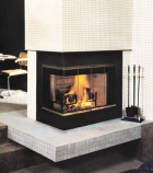 Smooth Face Corner Fireplace with Right Side Open - 36""