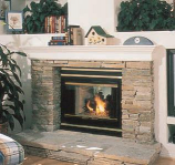 "Fireplace Smooth Face See-Thru 36"" with Insulation Uses 8"" Chimney"