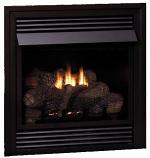 Vail Vent-Free LP Premium 32,000 BTU Fireplace with LS24RS Log Set