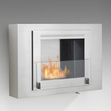 Wellington Wall Mounted Fireplace - Stainless Steel