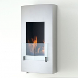 Hollywood Wall Mounted or Built in Fireplace - Stainless Steel