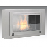 Montreal Wall Mounted Fireplace - Stainless Steel