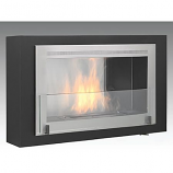 Montreal Wall Mounted Fireplace - Matte Black Interior Stainless Steel