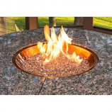 "20"" Round Crystal Fire Copper Burner with Glass Fire Gems"