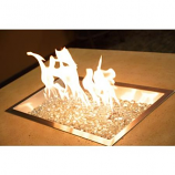 "12"" x 24"" Rectangular Crystal Copper Burner with Glass Gems"