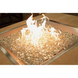 "24"" x 24"" Square Crystal Fire Copper Burner with Glass Fire Gems"