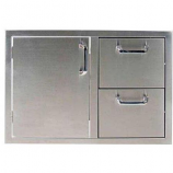 #304 Stainless Steel Combo Single Door 2 Drawer